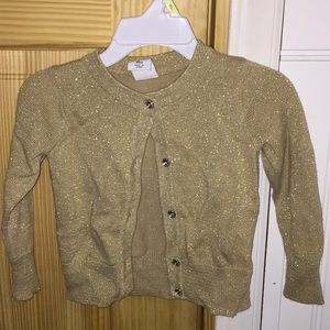 Girls gold sparkly cardigan 18 months